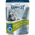 Happy Cat Пауч для кошек кусочки в желе Ягненок и Телятина с зеленой фасолью
