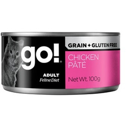 Go! Natural Holistic Консервы беззерновые с курицей для кошек, паштет, Grain Free Chicken Pate