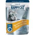 Happy Cat Пауч для кошек кусочки в желе Цыпленок и Печень с морковью