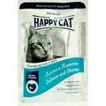 Happy Cat Пауч для кошек кусочки в желе Лосось и Креветки