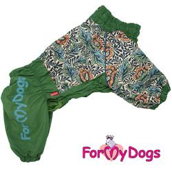 ForMyDogs Комбинезон на крупные породы собак Зеленый на мальчика