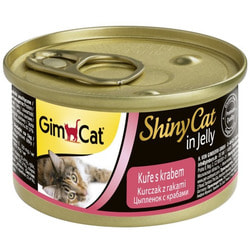 Консервы GimCat ShinyCat для кошек Цыпленок с Крабом в желе
