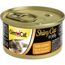 Консервы Gimpet ShinyCat для кошек Тунец с Цыпленком в желе