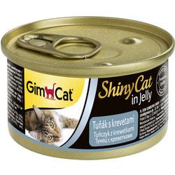 Консервы GimCat ShinyCat для кошек Тунец с Креветками в желе