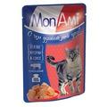 MonAmi Пауч для кошек кусочки в соусе Говядина