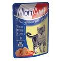 MonAmi Пауч для кошек кусочки в соусе Курица