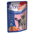 MonAmi Пауч для кошек кусочки в соусе Нежная Телятина