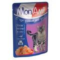 MonAmi Пауч для кошек кусочки в соусе Индейка