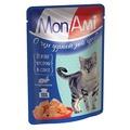 MonAmi Пауч для кошек кусочки в соусе Кролик