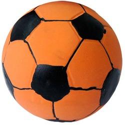 MAJOR Игрушка для собак Мяч футбольный рыжий с пищалкой латекс