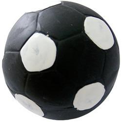 MAJOR Игрушка для собак Мяч футбольный черный с пищалкой латекс