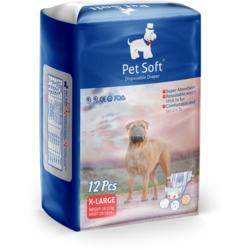 Pet Soft Одноразовые впитывающие подгузники для животных Pet Diaper (12шт)