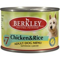 Berkley Консервы для собак №7 Цыпленок с рисом