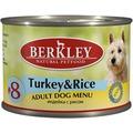 Berkley Консервы для собак №8 Индейка с рисом