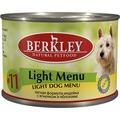 Berkley Консервы для собак №11 Индейка с ягненком Легкая формула