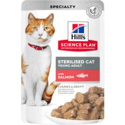 HILL'S Science Plan Пауч для стерилизованных кошек в возрасте 6 месяцев - 6 лет, с лососем