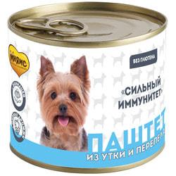 Мнямс Паштет из утки и перепела для собак всех пород «Сильный иммунитет»