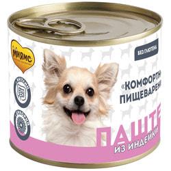 Мнямс Паштет из индейки для собак всех пород «Комфортное пищеварение»