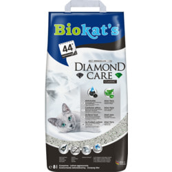 Наполнитель Biokats Diamond Care Classic комкующийся с активированным углем