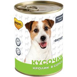 Мнямс Кусочки в соусе с кроликом для собак всех пород «Фитнес»