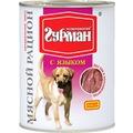 Четвероногий Гурман Мясной рацион консервы для собак с Языком