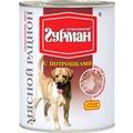 Четвероногий Гурман Мясной рацион консервы для собак с Потрошками