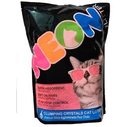 Neon Litter Наполнитель силикагель, комкующийся, розовый