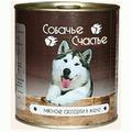 Собачье счастье Консервы для собак Мясное ассорти в желе