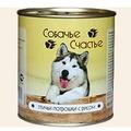 Собачье счастье Консервы для собак Птичьи потрошки с рисом