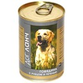 Dog Lunch Консервы для собак Говядина с рубцом и печенью