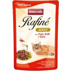 Animonda Rafine Soupe Adult пауч для кошек коктейль из мяса Индейки, Телятины и сыра