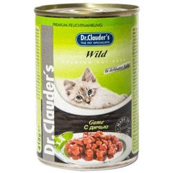 Dr. Clauder`s Консервы для кошек с Дичью