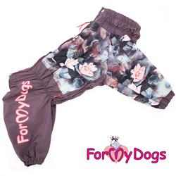 ForMyDogs Дождевик для больших собак Лотос, девочка