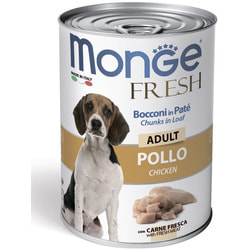 Monge Dog Fresh Chunks in Loaf консервы для собак мясной рулет с курицей