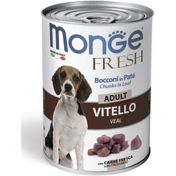 Monge Dog Fresh Chunks in Loaf консервы для собак мясной рулет с телятиной