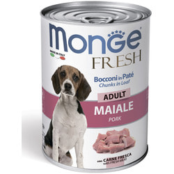 Monge Dog Fresh Chunks in Loaf консервы для собак мясной рулет со свининой