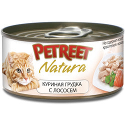 Petreet Консервы для кошек Куриная грудка с лососем