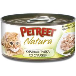 Petreet Консервы для кошек Куриная грудка со спаржей