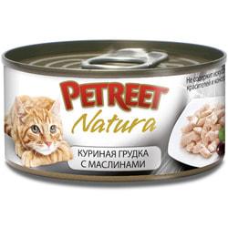 Petreet Консервы для кошек Куриная грудка с оливками