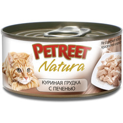 Petreet Консервы для кошек Куриная грудка с печенью
