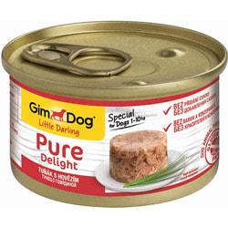 Консервы GimDog Pure Delight для собак из тунца с говядиной в желе