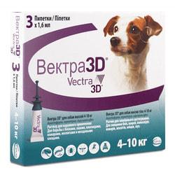 Vectra 3D Капли для собак 4-10кг инсектоакарицидные