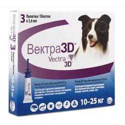 Vectra 3D Капли для собак 10-25кг инсектоакарицидные