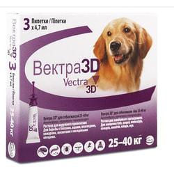 Vectra 3D Капли для собак 25-40кг инсектоакарицидные
