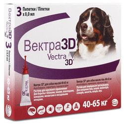 Vectra 3D Капли для собак 40-65кг инсектоакарицидные