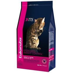 Eukanuba Сухой корм для взрослых кошек с избыточным весом и стерилизованных. Adult sterilised/ Weight control