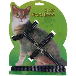 Smartpet Шлейка для кошек светоотражающая с поводком