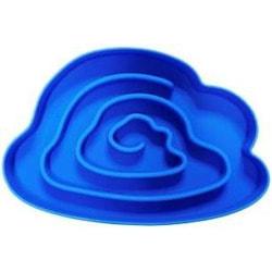 SuperDesign Миска силиконовая для медленного поедания, синяя