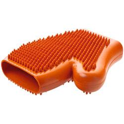 Hunter Smart резиновая перчатка для вычесывания шерсти оранжевая