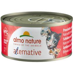 Almo Nature Alternative Консервы для кошек Ветчина и пармезан. HFC CATS HAM AND PARMESAN
